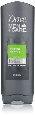 Dove Men+Care Body and Face Wash, Extra Fresh 18 oz , Pack o
