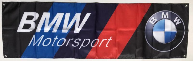 Repro For BMW-Motorsport-Flag-Banner Black 1.5X5ft/2x8ft Advertising Polyester