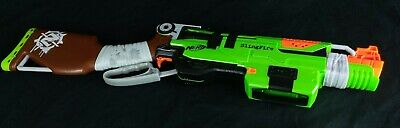Nerf Zombie Strike SlingFire Soft Dart Gun Green Orange TESTED WORKING