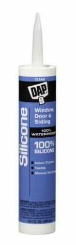 DAP 08641  9.8 oz CLEAR 100% Silicone Caulk Sealant Cartridg