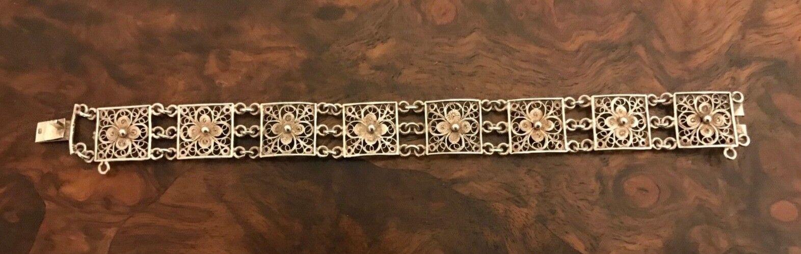Antikes 800 Silber Armband Jugendstil Art Deco Filigran Alt Fein kein 835 925