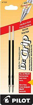 Pilot 77229 Dr. Grip Ballpoint Red Ink Refill Retractable Pens Medium Point
