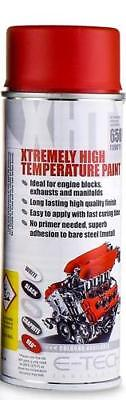 SATIN RED Extremely High Temperature Paint Engine 1200F 650C Motorbike (VHT/R)