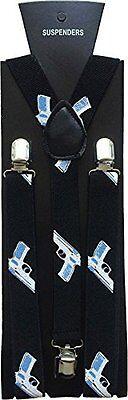 Halloween Wholesalers Men's Suspenders with Gun studs (Black)](Halloween Costumes With Suspenders)