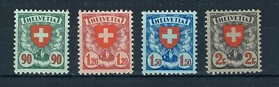 Switzerland 1933 Coat of Arms full set of stamps. MNH. Sg 329a-332a