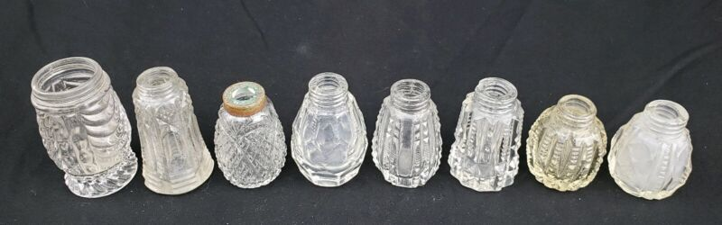 Antique Cut or Pressed Glass Salt and Pepper Shakers Lot OMN Sultan Bryce Bros