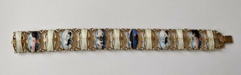 Norway Ivar Holth 925S Sterling Enamel Scenic Bracelet