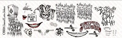 1/6 Scale Jared Leto Joker Suicide Squad Tattoo Decals for 12 inch Figures