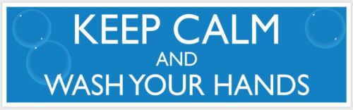 Keep Calm & Wash Your Hands Public Safety Decal Sticker 3 pack - FREE SHIPPING
