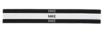 Nike Venda Swoosh Sport Venda Cinta de Pelo Diadema 3er Paquete Negro...