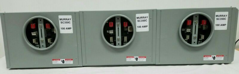 Murray 100 Amp SC350C Meter Socket 3-Position 300 Vac 1 Phase Residential End