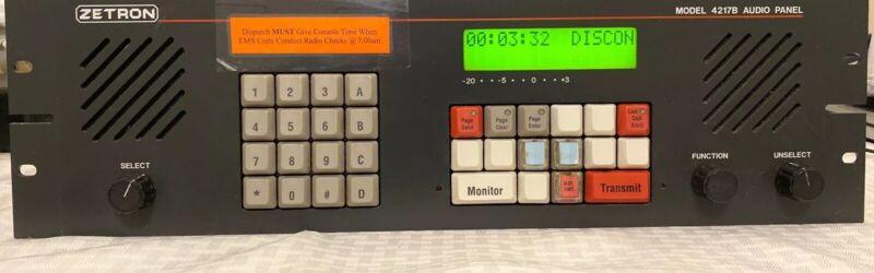 Zetron Model 4217B Audio Panel w/elpac power supply And Mic