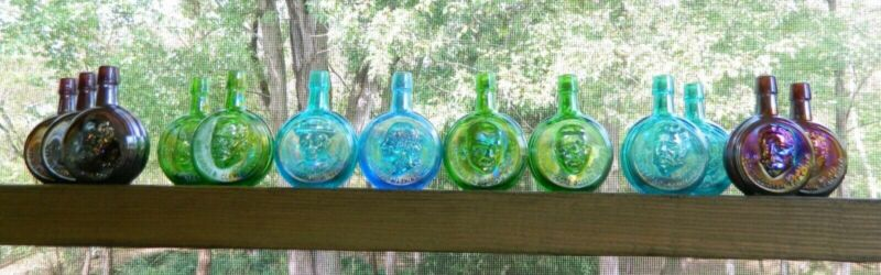 WHEATON PRESIDENTIAL BOTTLES LOT OF 13 EXC COND FREE SHIPPING