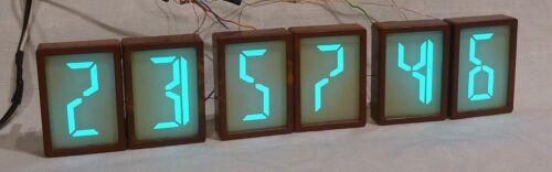 6 pc I-208 rare electroluminescent display TESTED soviet nixie tube LED