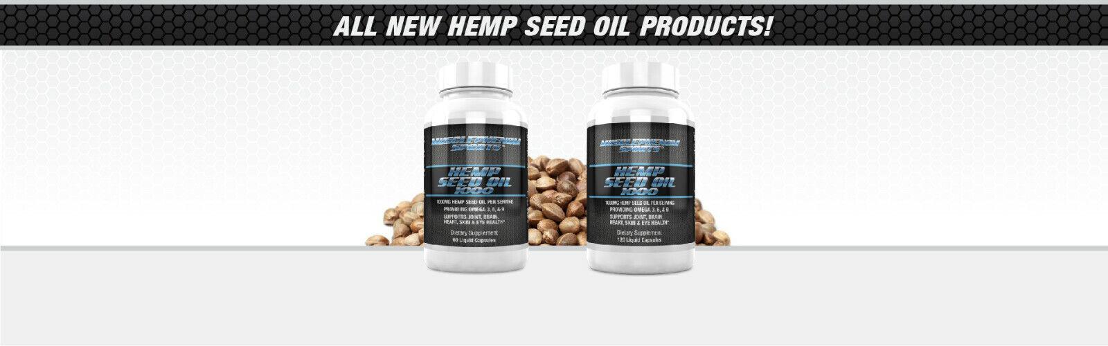 Hemp Seed Oil Capsules 1000mg 3 bottles 180 capsules 3 month supply 6