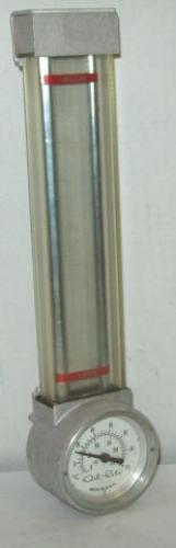 "Oil Rite 9"" Aluminum Liquid Level Sight Gauge With Thermometer"