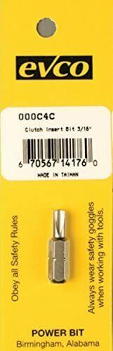"""Ap Products Screw Driver Clutch Insert Bit 3/16"""" For Rv Mobile Homes 009-000c4c"""