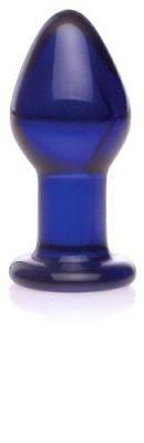 Don Wand 9886 Unisex Glass Indulgence Pleasure Plug Cobalt Blue Toy Brand New