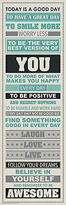 Be Awesome Inspirational Motivational Happiness Quotes Decorative Poster Print