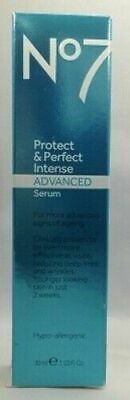 Boots No7 Serum Protect & Perfect Intense Advanced Anti Aging Tube 1 oz / 30 ML