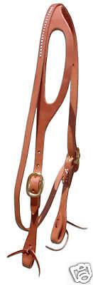 (Leather shape ear bridle headstall w/ throatlatch custom quality USA ties H1055)