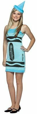 Teen Tween Sky Blue Crayola Crayon Tank Dress Costume - Teen Size 13-16 - Fast -](Sky Blue Crayola)