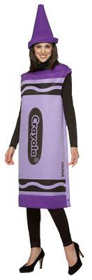 Purple Crayon Halloween Costume (Crayola Crayon Purple Halloween Costume, Adult, Small/Medium,)