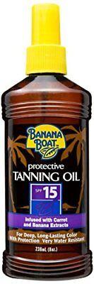 Spf 15 Banana Boat (Banana Boat Protective Spray Oil Sunscreen SPF 15 8oz Each)