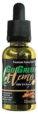Gogreen Hemp   Pure And Natural   1Oz Tincture 500Mg   Cinnamon Flavor