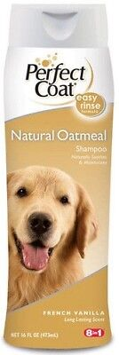 NEW 8 in 1 Perfect Coat Natural Oatmeal Dog Shampoo French Vanilla 16 fl. 473 ml