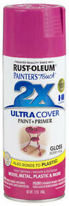 RUST-OLEUM Painter's Touch 2X Gloss Berry Pink Paint-340g - NEW