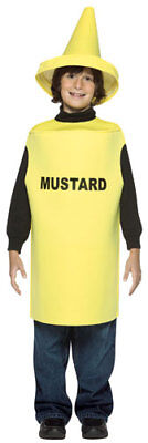 Mustard Bottle Kids Halloween Costume size - Mustard Bottle Halloween Costume