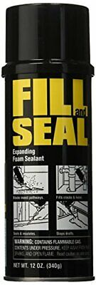 Fill And Seal Expanding Insulating Foam Sealant 12oz Crack Hole Interior