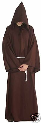 Monk's Robe Deluxe Adult Monk Robe Horror Robe Father Time Angel Robe 1401