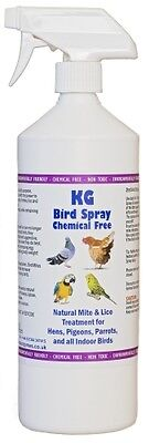 Bird Spray 1000ml Mite & Lice Treatment for Hens, Pigeons,Parrotts, Indoor Birds
