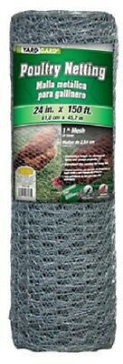 Mat 308413b 24 X 150 Ft 1 Mesh Galvanized Poultry Netting Fencing