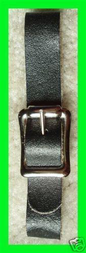 3 New 1/2 Black Leather Pocket/Watch Fob Straps