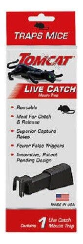 Tomcat Live Catch Reusable Mouse Trap Made In The USA Animal & Rodent Control