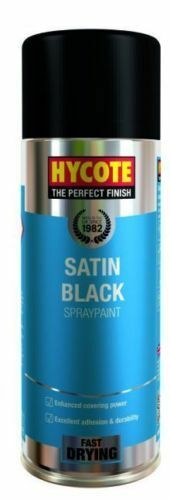NEW HYCOTE XUK0271 Aerosol Spray Paint 400 ml - Satin Black