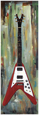 MUSIC ART PRINT - Electric Guitar I by Jill Barton 36x12 Poster - OUT OF PRINT