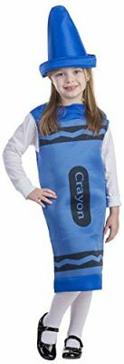 Dress Up America Kids Blue Crayon Costume