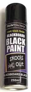 BLACKBOARD Black Matt Spray Paint Chalk Board Chalkboard Can