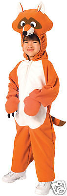Raccoon Animal Deluxe Plush Fleece Dress Up Halloween Toddler Child Costume 2-4