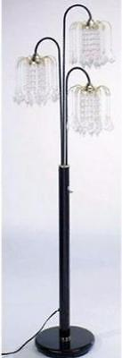 Crystal Floor Lamp 3 Shades Arc Modern Glass Living Room Chandelier Light Decor ()