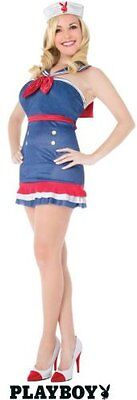 Officially Licensed Playboy Sexy Sailor Halloween Costume Pin Up Girl Small
