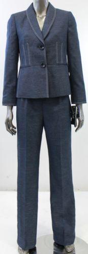 Luxury Tahari Women39s Navy Pant Suit  14171162  Overstockcom Shopping