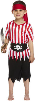 BOYS PIRATE FANCY DRESS COSTUME DECKHAND KIDS CHILDS OUTFIT CAPTAIN BOOK DAY  - Childrens Pirate Fancy Dress Costumes
