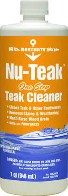 MaryKate Marine NU-TEAK One Step Teak Cleaner 1 Quart For Teak & Other Hardwoods