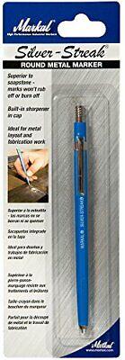 Markal 96006 Silver-Streak Metal Marker Round Pen Cutting Welding New Free Ship