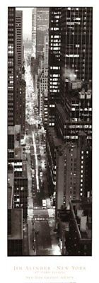 47th Street Photo - NEW YORK CITY ART PRINT - 47th Street Evening by Jim Alinder Photo Poster